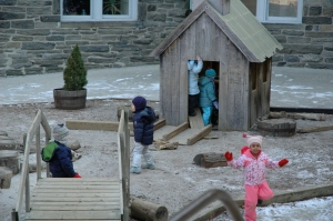Outside play for the early childhood