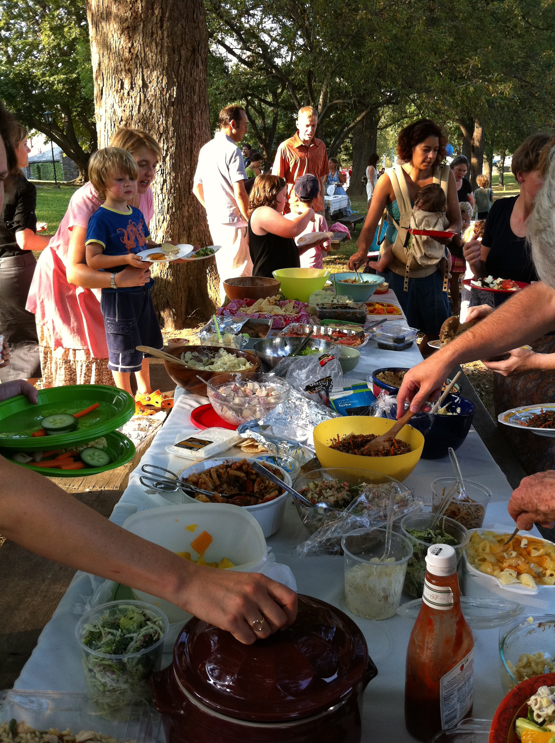 welcome back potluck